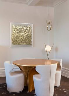 """Abstract PaintingGold Leaf Abstract Gold Painting """" Mixed feelings"""" Oil Painting On Canvas Modern Art by Julia Kotenko by JuliaKotenkoArt on Etsy"""