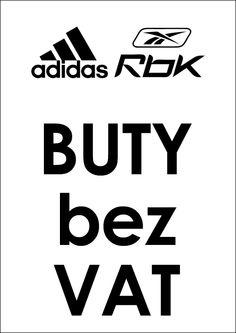 ADIDAS/REEBOK: buty bez VAT
