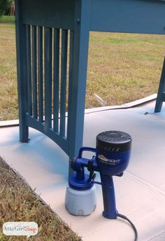 Using a Paint Sprayer with Chalk Paint and Milk Paint PLUS link to a how to clean this sprayer blog.