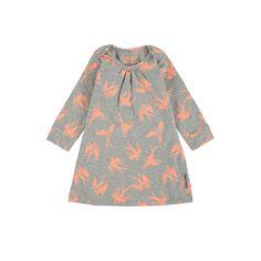 Baby dress with print, L.Grijs
