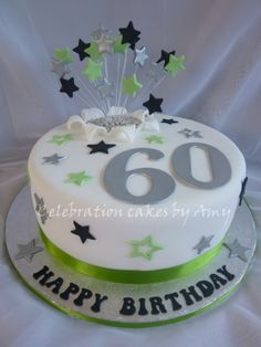 "Male's 60th birthday cake - 11"" sponge cake with decoration"