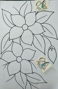 Hand Embroidery Projects, Hand Embroidery Flowers, Flower Embroidery Designs, Hand Embroidery Stitches, Flower Painting Canvas, Fabric Painting, Cross Stitch Fruit, Mosaic Art Projects, Paper Quilling Patterns