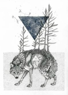 Lupus. Animal Drawings Steeped in Symbolism and Surrealism. By Sarah Leea Petkus.