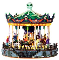 Michael's Spooky Town Lemax Collection, Scary-Go-Round