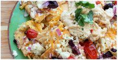 Mediterranean Nachos (trader joe's recipe)
