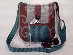 Modern Crossbody Bag Hipster Bag Fabric by LolaJoyouslyHandmade