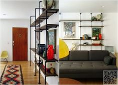 4. #Shelving Unit - 10 Marvelous DIY #Mid-Century Modern Home #Projects ... → #Lifestyle #Hairpin