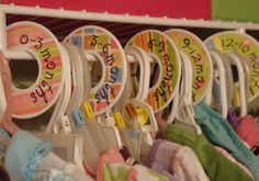 baby clothes closet dividers