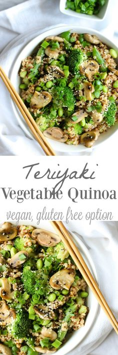 Vegetable Quinoa Teriyaki Vegetable Quinoa {vegan, gluten free} // Free Free may refer to: Quinoa Vegan, Vegan Quinoa Recipes, Vegetarian Recipes, Healthy Recipes, Free Recipes, Quinoa Bowl, Whole Food Recipes, Cooking Recipes, Dinner Recipes