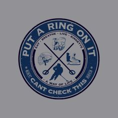 Ring Ringette – Grey T-Shirt – Can't Check This Painted Wine Glasses, Way Of Life, Play Hard, Team Building, Hockey, Paisley, Cricut, Gift Ideas, Game