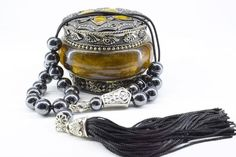Hematite Gemstone, Komboloi, Black Tassel, Worry Beads, Greek Komboloi, Made in Greece, Relaxation, Gift for Men, Stress Relief, Tesbih Paper Tape, Bracelet Sizes, How To Make Beads, Gifts For Father, Stress Relief, Gemstone Beads, Tassel, Greece, Gemstones