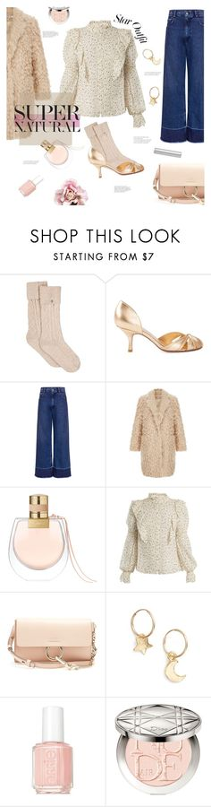"""""""a little bit of stardust."""" by gabrielleleroy ❤ liked on Polyvore featuring UGG, Sarah Chofakian, Rachel Comey, Chloé, Rebecca Taylor, Britt Bolton, Essie, Christian Dior, By Terry and StarOutfits"""
