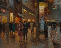 "artwork of paris Edourde Coutes | signed ""Edouard Cortes."" (lower right)"