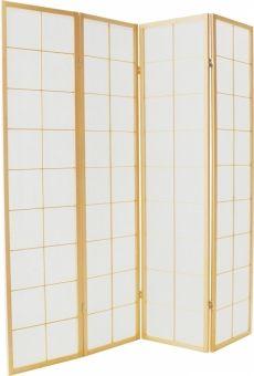 Traditioneel Japans kamerscherm 180cm hoog 4 paneel