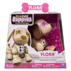 Zoomer Zuppies FLORA Interactive Puppy Dog Award Winning Toy PRIORITY SHIPPING