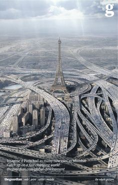 Imagine if Paris had as many new cars as Mumbai.