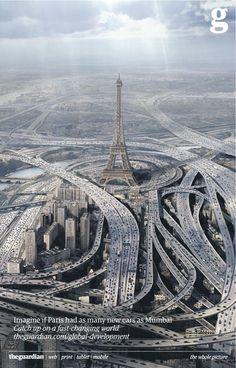 Imagine if Paris had as many new cars as Mumbai.
