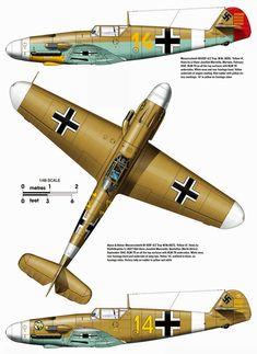 Messerschmitt Bf of Hans Joachim Marseille, WNr Feb Ww2 Fighter Planes, Air Fighter, Ww2 Planes, Fighter Aircraft, Fighter Jets, Luftwaffe, Ww2 Aircraft, Military Aircraft, Mercedes Stern