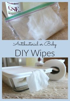 Bypass the chemicals and make your own antibacterial or baby wipes! Bypass the chemicals and make your own antibacterial or baby wipes! Related posts: wipe it without chemicals :: DIY baby wipes DIY Reusable baby wipes Natural Baby Wipes, Baby Nursery Diy, Diy Baby, Make Your Own, Make It Yourself, Cleaners Homemade, Homemade Wipes, Diy Cleaners, Household Cleaners
