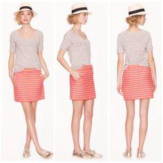 New Listing! J. Crew Striped Postcard Mini Skirt New listing! Details and real life photos coming soon! J. Crew Skirts Mini