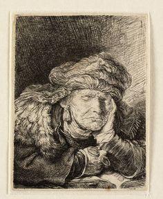 Mijn favoriete Rembrandt in Teylers Museum: Slapende oude vrouw (B350)