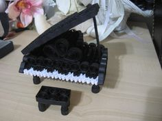 Quilled Black Grand Piano