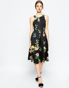 ASOS+Floral+Occasion+Midi+Dress