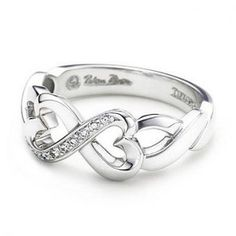Tiffany And Co Outlet Paloma Picasso Double Loving Heart Ring $48.55