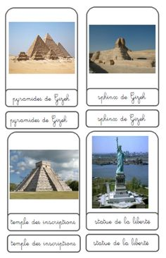 workshop monuments of the world – Nurvero Montessori Science, Montessori Toys, Alternative Education, Cycle 3, Summer Barbecue, Monuments, School Life, Places Around The World, Geology