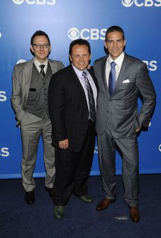 Michael Emerson, Kevin Chapman and Jim Caviezel - CBS Upfront 2012 - May 16, 2012
