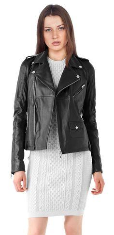 New Women's Leather Motorcycle Biker Jacket 100% Genuine Soft Lambskin #N95 #NationalLeather #MotorcycleBomber