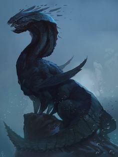 The Dragon God, Alex Konstad on ArtStation at http://www.artstation.com/artwork/the-dragon-god