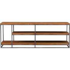 Framework Credenza / CB2: Asymmetric design features taller storage at one end to host LPs and gaming towers. Also doubles as room divider, bookcase or elevated coffee table. $599, classic!