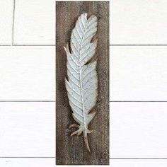 Wood And Metal Feather Wall Decor