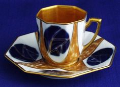 Art deco Camille Tharaud Limoges coffee cup