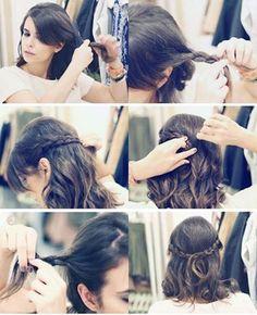 4 Tutos de coiffures tressées pour les cheveux courts - Les Éclaireuses