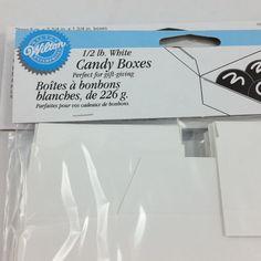 3 Packs White Wedding Favor Candy Boxes Wilton 1/2 Lb 9 Boxes Total #Wilton