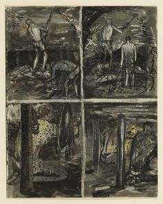 Four Studies of Miners Working – Results – Search Objects – Henry Moore artworks Henry Moore Artwork, Henry Moore Drawings, Cambridge Igcse, Coal Miners, Working Drawing, Sketchbook Pages, A Level Art, Working Class, Factories