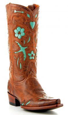 Womens Old Gringo Golondrina Boots Tan #L017-17 via @Allens Boots