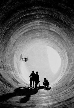 The perfect 'Pipe Dream'... what a killer spot to session with crew, how mad are the size of those transitions. You will be amazed how many big storm pipes are out there to attack, go look. Found via fellow skate pinner - motocroquis.