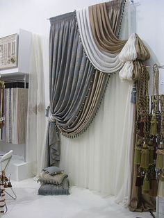 crazy way to hang curtains!  love it