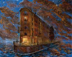 "Nikolay Bogomolov — ""Petrsburg's dreams "", oil on canvas, 80*100cm, 2010 / Saint Petersburg, Russia"