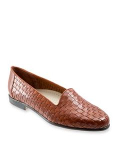 Trotters Brown Liz Woven Loafer