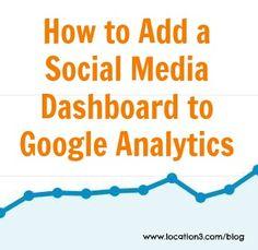 Google Analytics Social Media Dashboard How To