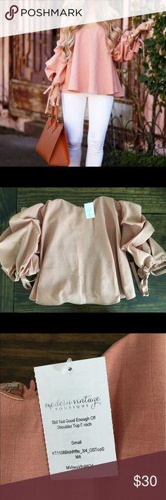 Modern Vintage Boutique Off Shoulder Top NWT - Excellent Condition - Small Modern Vintage Boutique Tops Blouses