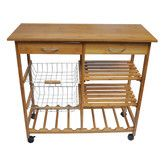 Found it at Wayfair - Kitchen Cart perfect for our tiny kitchen