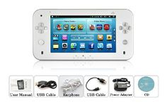 """Android Gaming Tablet """"Pearl""""  Console Emulator for Classic Games"""