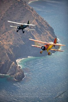 Private planes over Catalina...
