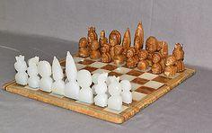 8  African Tribal Masks Chess Set