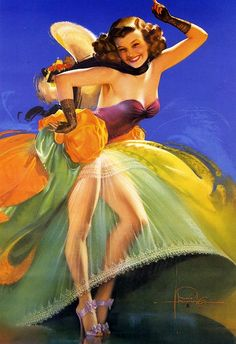 ROLF ARMSTRONG  TITLE: On the Beam  DATE: 1943  MODEL: Jewell Flowers.  NOTES: Brown & Bigelow.